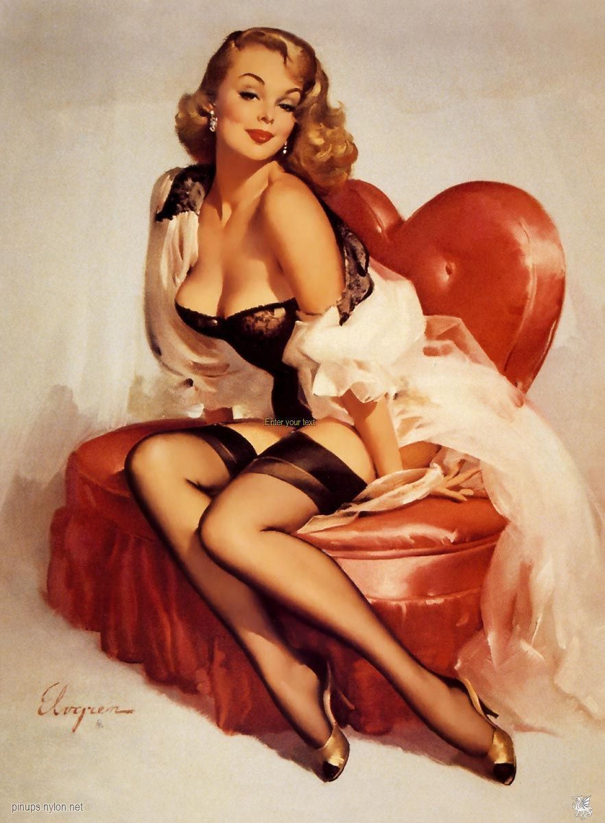 pin up dessin annee 50