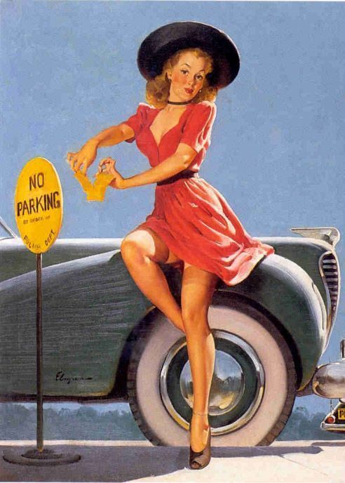 Pin up en voiture dans les ann es 50 - Pin up annee 40 ...
